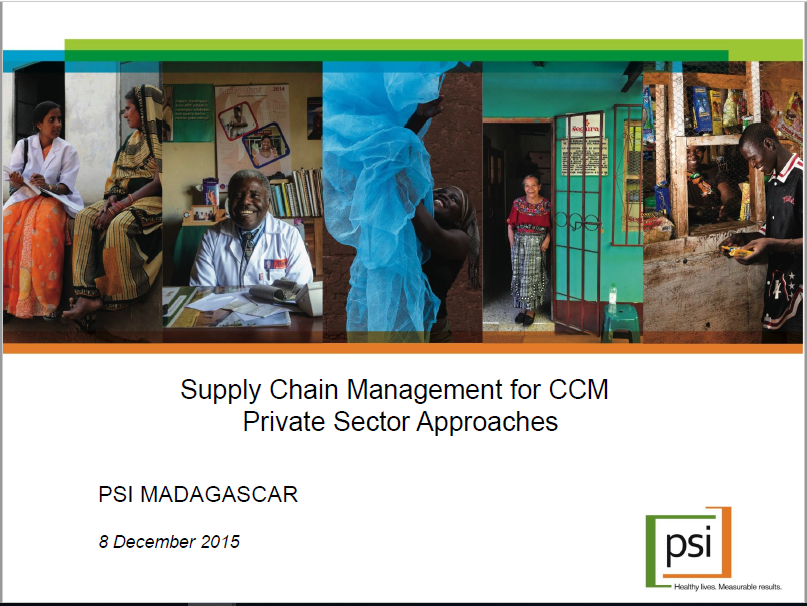 PSI Madagascar — Supply Chain management for iCCM- Private
