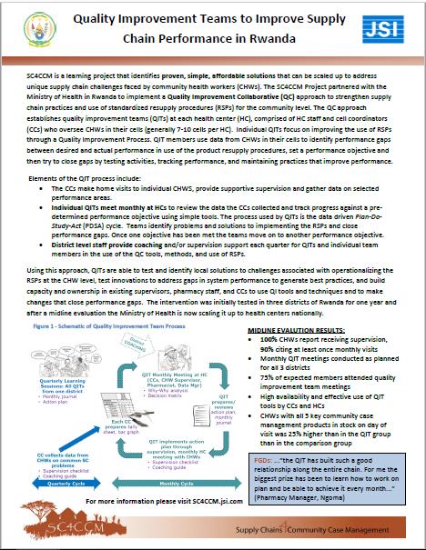 SCM Quality Collaboratives: Rwanda - (SC4CCM, 2014) | Child Health