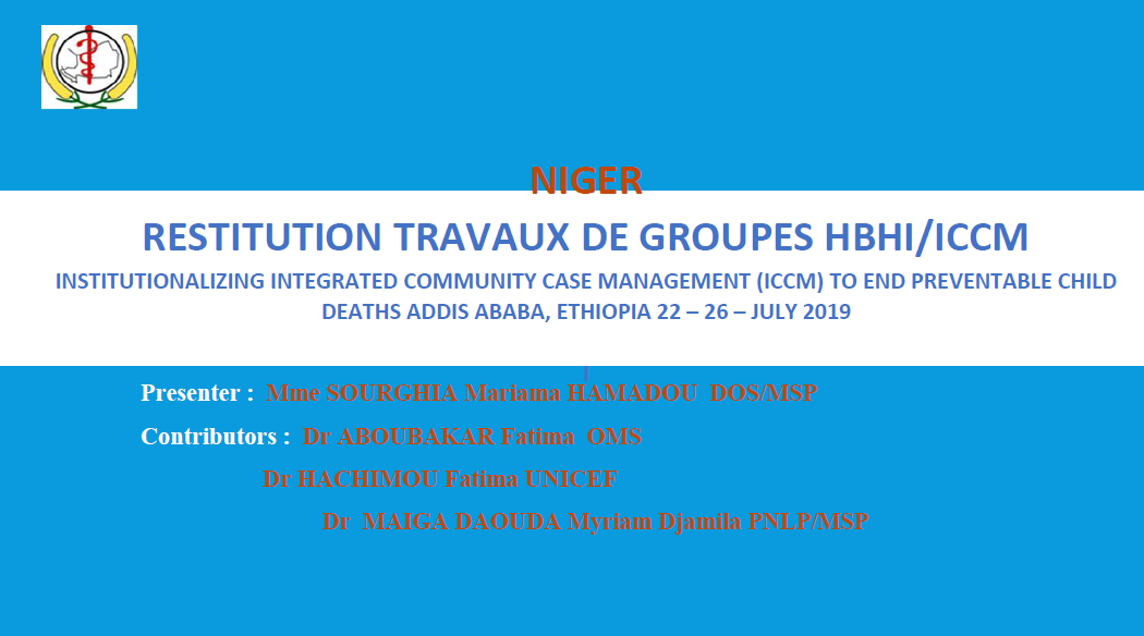 Presentation title slide, blue and white background with French text