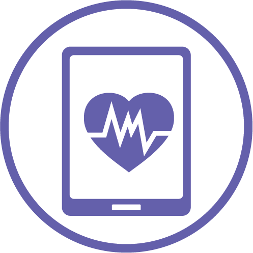 Digital health and innovations icon