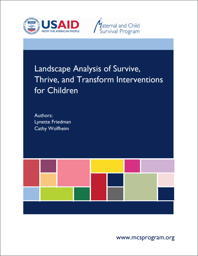 Cover of the Landscape Analysis