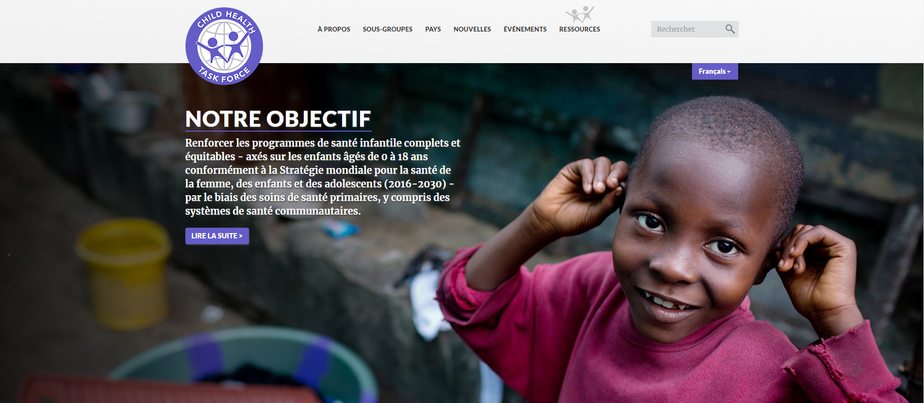 Child Health Taskforce website is now in French