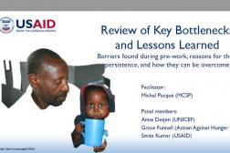 cover photo: Review of Key Bottlenecks and Lessons Learned Panel; Michel Pacque