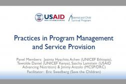 Photo: 04 Save the Children_Eric Swedberg_Panel on Practices in Program Management_INS Workshop_10.31.2018