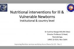 Photo: 10 MOH India_Sushma Nangia_Nutritional Interventions for Ill & Vulnerable Newborns_INS Workshop_10.31.2018