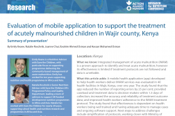 Photo: Action Against Hunger_Summary of Research Presentation_IMAM Mobile App in Kenya