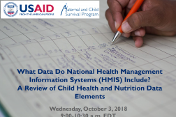 Photo: Kate Gilroy_Child Health and Nutrition HMIS Review Webinar Slides_10.3.2018 cover