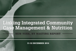 Photo: Linking iCCM and Nutrition NYC Meeting Report_2014 cover