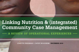Photo: Lynette Freidman and Cathy Wolfheim_Linking iCCM and Nutrition Final Report_12.2014 cover