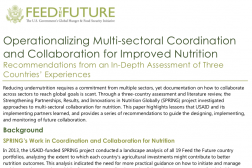 Photo: SPRING_Operationalizing Multi-Sectoral Coordination and Collaboration for Improved Nutrition_11.2016