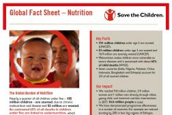 Photo: Save the Children_Global Nutrition Fact Sheet_2018