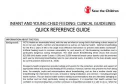 Photo: Save the Children_IYCF Clinical Guidelines Summary