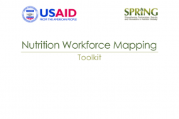 Photo: SPRING_Nutrition Workforce Mapping Toolkit_8.2014 cover