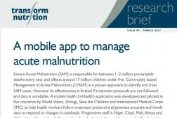 Photo: Transform Nutrition_Research Brief_CMAM Mobile App_3.2017