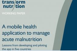 Photo: Transform Nutrition_Working Paper_CMAM Mobile App_2017