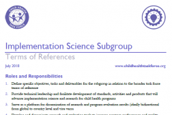 Photo of word document, Implementation Science Subgroup Terms of Reference.