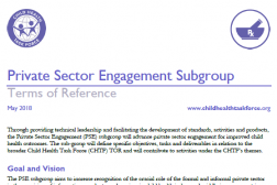 Photo of word document, Private Sector Engagement Subgroup Terms of Reference.